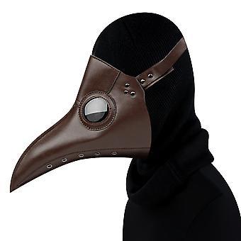 الطاعون الطبيب قناع الطيور الأسود الجلد منقار الأنف الطويل