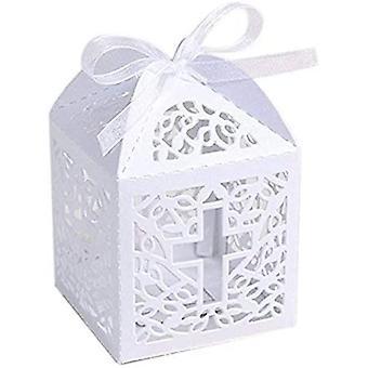 50 Geschenktüten Weiße SüßigkeitenBox Geeignet für Baby Welcome Party Taufe Dekoration
