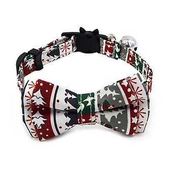Рождественские ошейники для собак Регулируемый Симпатичный галстук-бабочка Рождественские подарки для маленьких средних собак Кошки Мягкие Прекрасные фестивальные украшения