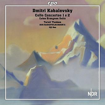 Kabalewsky - Dmitri Kabalevsky: Cello Concertos 1 & 2; Colas Breugnon Suite [CD] USA importar