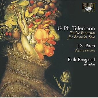 G.P. Telemann - Telemann: Douze fantaisies pour enregistreur Solo; Bach: Partita Bwv 1013 [CD] USA import