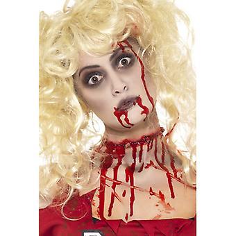 Zombie makeup Kit inneholder farge blod kapsler og svamp