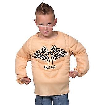 Músculo de traje musculoso chaleco niños tamaño Rambo 5 a 9 años