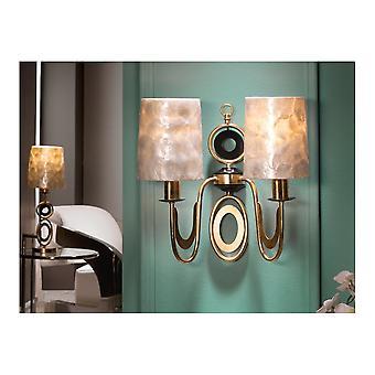 Schuller Eden Gold Wall Lamp, 2L