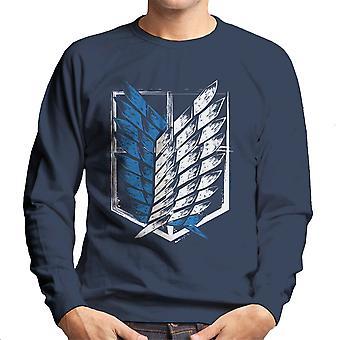 Aanval op Titan vleugels van vrijheid mannen Sweatshirt
