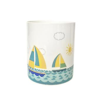 Light-Glow Porcelain Candle Holder, Sailing Boat