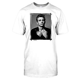 James Dean tirando suéter para hombre camiseta