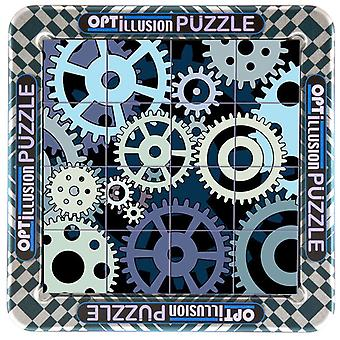 3D Magna Optillusion Cogs Mini magnetischen Jigsaw Puzzle (16 Stück)