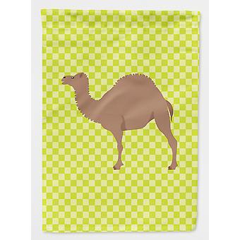 Carolines Treasures  BB7645GF F1 Hybrid Camel Green Flag Garden Size
