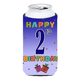 Happy 2nd Birthday Tall Boy Beverage Insulator Hugger