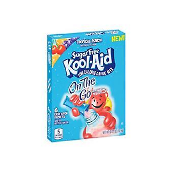 Kool-Aid sobre os açúcar vá livre Tropical Punch bebida Mix Singles