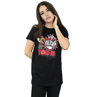 Tom And Jerry Women's Tomic Energy Boyfriend Fit T-Shirt
