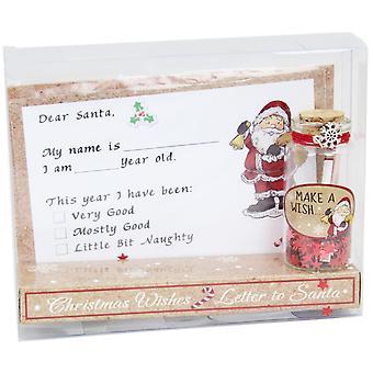 Jul brev til julemanden og Make A ønske krukke Gavesæt
