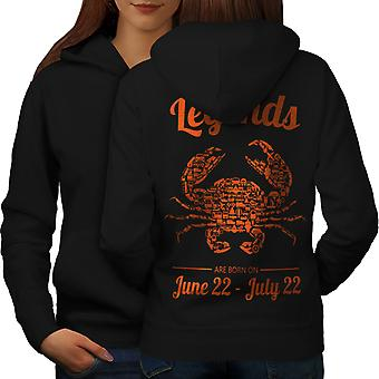 Best June July Birthday Women BlackHoodie Back | Wellcoda
