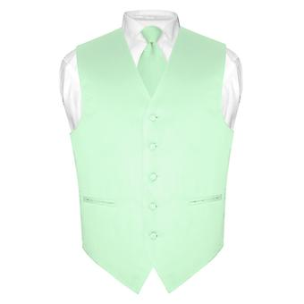 Męski strój kamizelka idealna krawat Solid szyi krawat zestaw garnitur lub Tux
