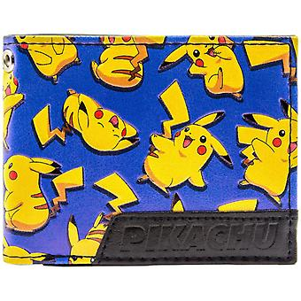 Pokemon Pikachu gelukkig elektrische muis ID & kaart Bi-Fold portemonnee