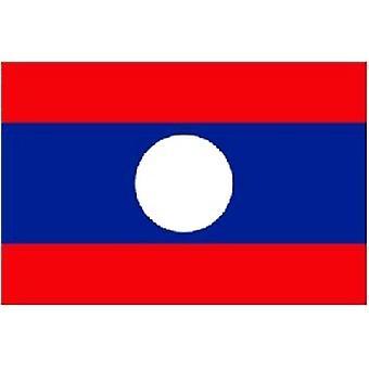 Laos vlag 5 ft x 3 ft met oogjes voor verkeerd-om