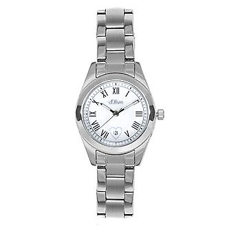 s.Oliver Damen-Armbanduhr Analog Quarz SO-15085-MQR