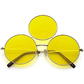 Gran círculo delgado tercer ojo gafas armas 56mm