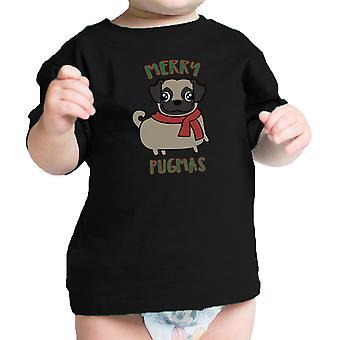 Merry Pugmas Pug grappige baby Graphic Tee schattig geschenk voor liefhebbers van de mopshond