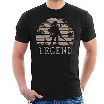 Legend Of Zelda Sonnenuntergang Triforce Herren T-Shirt