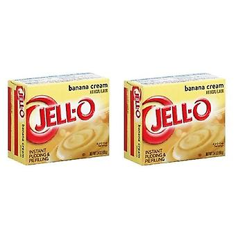 Jell-O Banana Cream Instant Pudding Dessert Mix 2 vak Pack