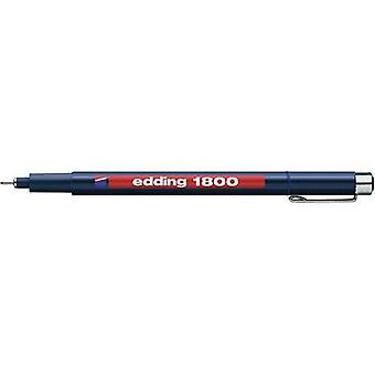 Edding 4-180005003 تحرير 1800 Fineliner الأزرق 0.5 ملم 1 جهاز كمبيوتر (أجهزة الكمبيوتر)