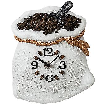 Atlanta kitchen clock quartz coffee sack stoneware body