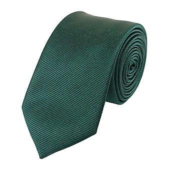 Schlips Krawatte Krawatten Binder Schmal 6cm Kiefergrün Uni Fabio Farini