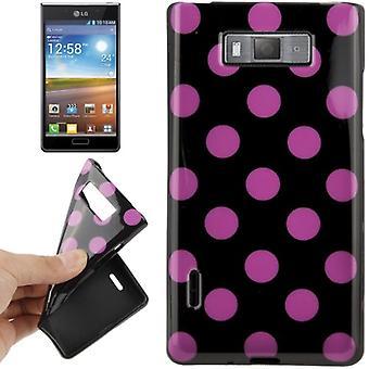 携帯電話 lg 電子オプティマス L7 用ケースの保護ケース TPU ポイント/E705