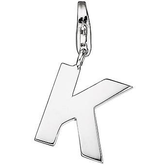 Brincos simples charm letra K-925 prata esterlina pendente para pulseira