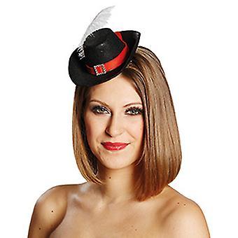 Acessórios de grampo de cabelo de mosqueteiro chapéu Halloween carnaval
