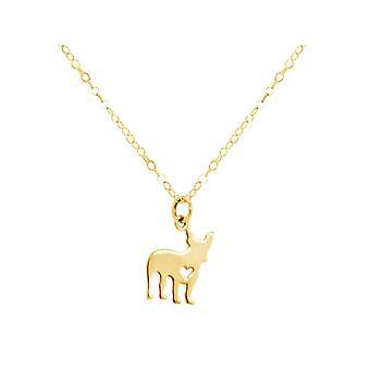 GEMSHINE ketjumopsi Ranskan Bulldog koira riipus 925 hopea, kullattu tai ruusu