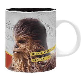 Star Wars kopje solo Chewie machtige Wookiee Copilot wit/zwart, afgedrukt, keramische, capaciteit ca. 320 ml...