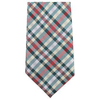 Knightsbridge Neckwear Tartan Woven Tie - Green/Red/Yellow