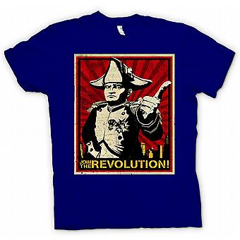 Мужская футболка - Наполеон - Присоединяйтесь к революции