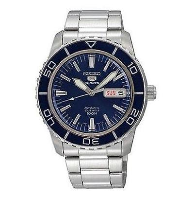 Seiko 5 Sports Automatic Blue Dial Stainless Steel Men's Watch SNZH53K1