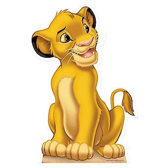 Simba - o rei leão Lifesize papelão recorte / cartaz