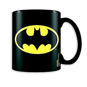 Batman imprimé logo tasse noir DC Comics, en céramique, en coffret cadeau.