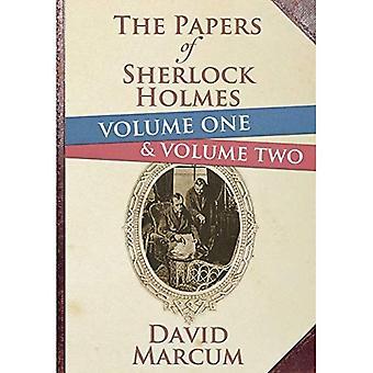 Tidningarna av Sherlock Holmes volym 1 och 2 inbundna