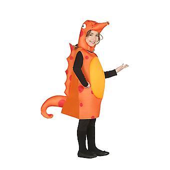 Childrens Orange Seahorse Fancy kjole kostume