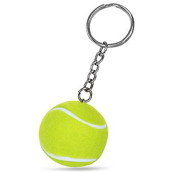 TRIXES Mini Tennis Ball Keyring Keychain Florescent Green
