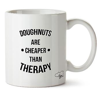 Hippowarehouse Doughnuts Are Cheaper Than Therapy Printed Mug Cup Ceramic 10oz