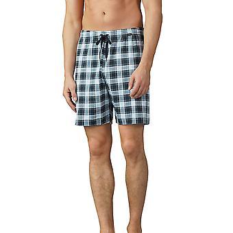Mey 18950-188 miesten miesten Lounge Ciel harmaa ruudullinen Pyjama lyhyen