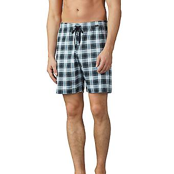 Mey 18950-188 mäns Lounge Ciel grå rutiga pyjamas kort