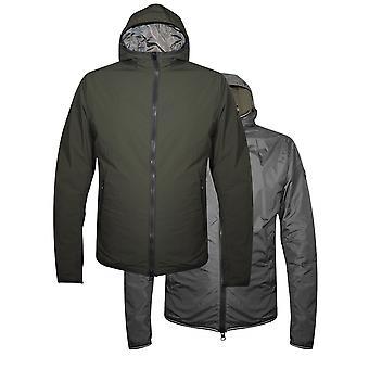 Colmar Khaki & Grey Reversible Hooded Jacket