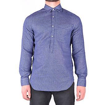Jacob Cohen Ezbc054114 Männer's blaue Baumwolle Shirt