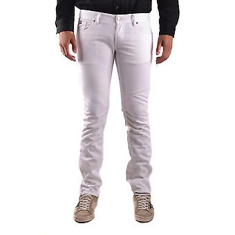 John Richmond Ezbc082064 Men's White Cotton Jeans