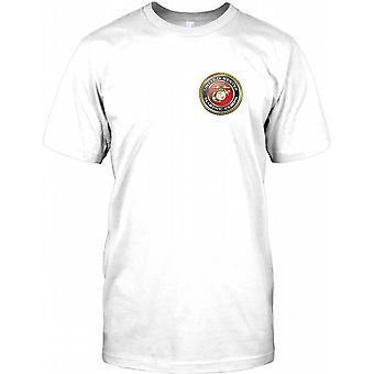 USMC United States Marines - Brust Logo Kinder T Shirt