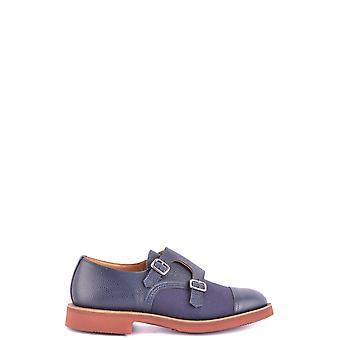 Tricker's Ezbc150004 Men's Blue Leather Monk Strap Shoes